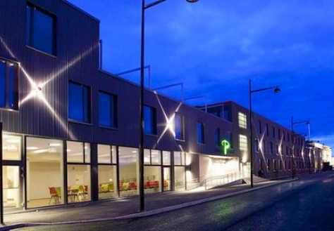 Welltec fasadeplater - Brattøra P Hotell - Alunor metall